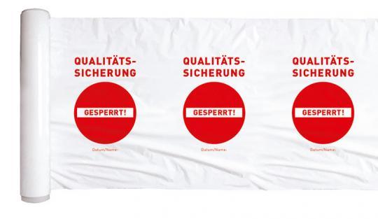 Gesperrt durch Qualitätssicherung - bedruckte Stretchfolie